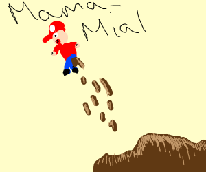 Mario with diarrhea