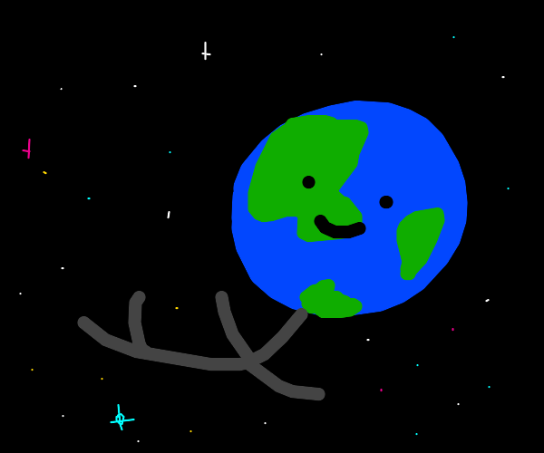 The man in the earth