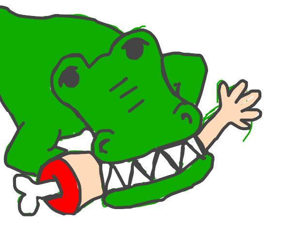 Alligator eating an Arm