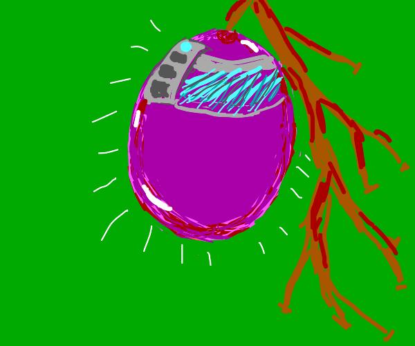 Vibrant Futuristic Grape