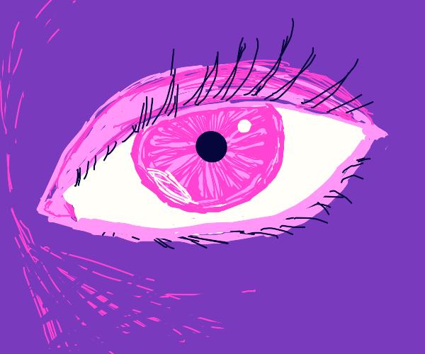 pink eye and purple skin