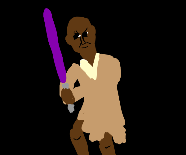 Whoa, check out the knees on Mace Windu here!