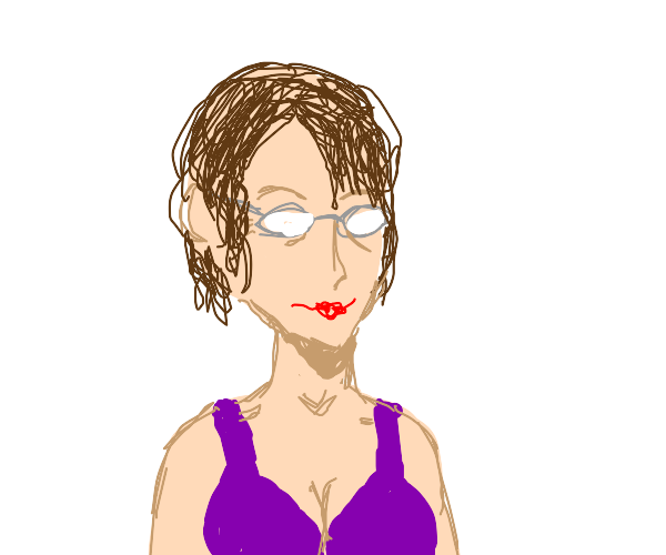 Middle aged woman with glasses