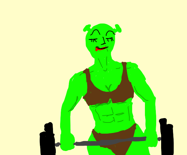 Female bodybuilder shrek