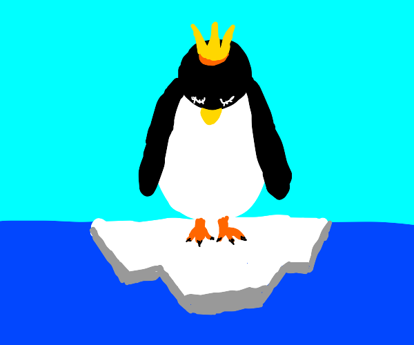 Sleeping king penguin