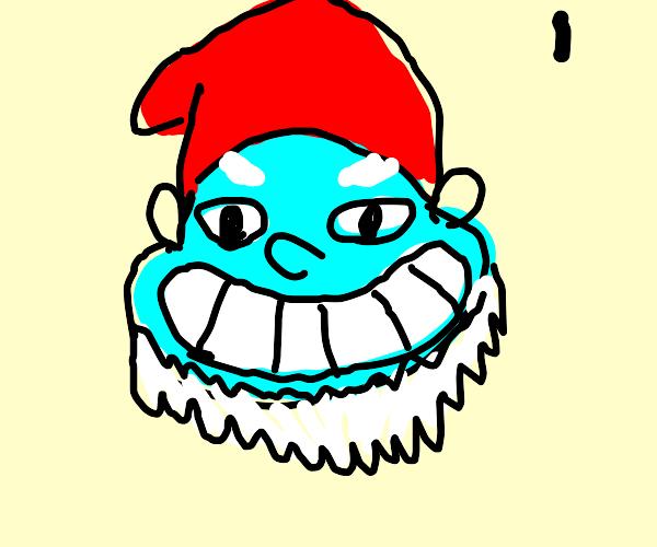 Papa Smurf grinning