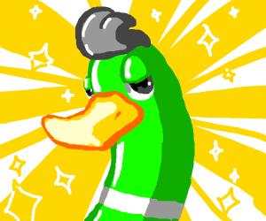 beautiful duck man
