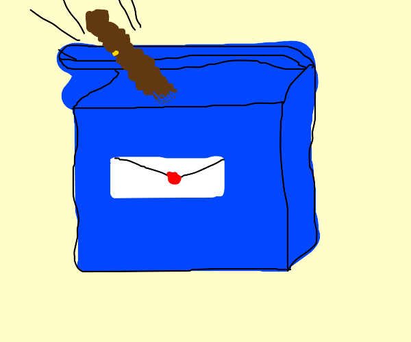 poop going into mailbox