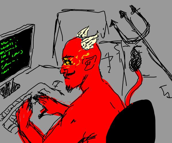 Devils practices his programming skills