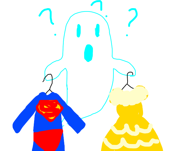A ghost looking for a Halloween costume