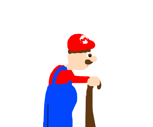 Mario but he has to use a cane now