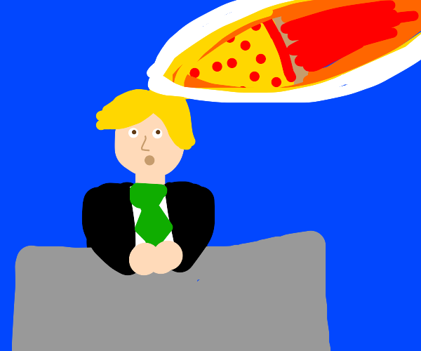 News Anchor Gets Hit By Pizza Comet