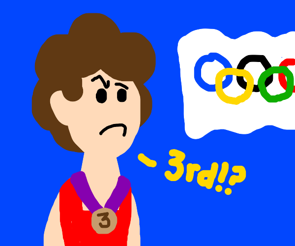 3rd place in Olympic Games being 'salty'