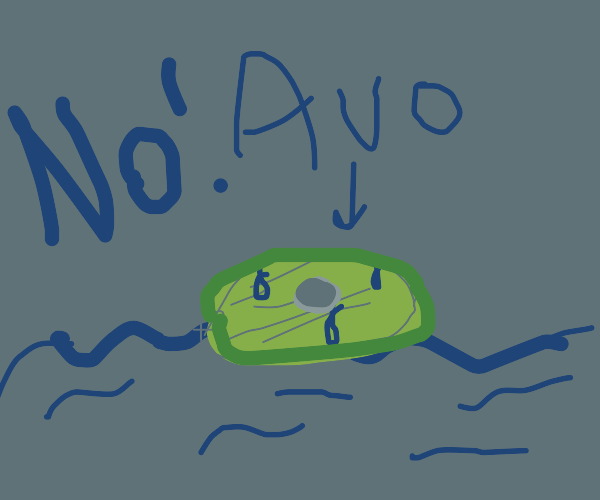 Please, no... anything but a WET AVOCADO