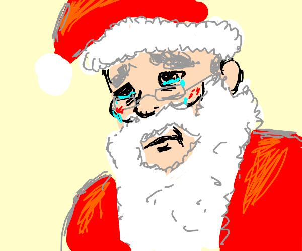 Santa is sad