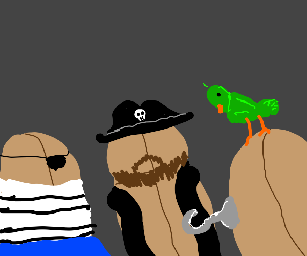 The crew of the bean pirate ship