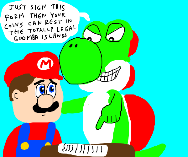 Mario joins Yoshi's tax fraud
