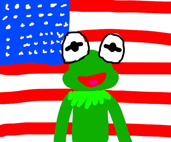frog is staring into sum1s soul patriotically