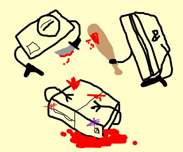 Sega and ps4 murder xbox