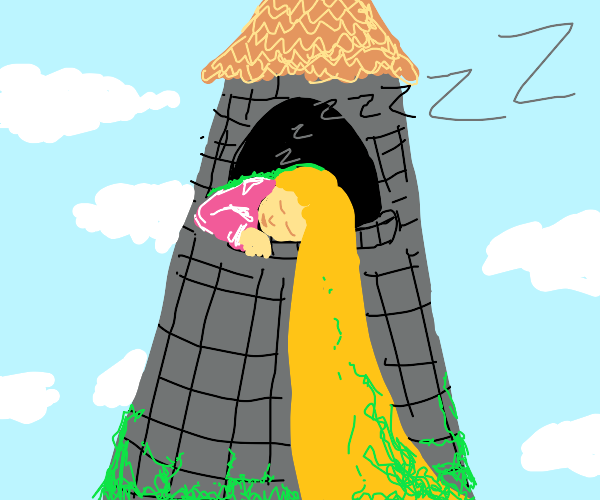 Rapunzel slept so long moss grew on her