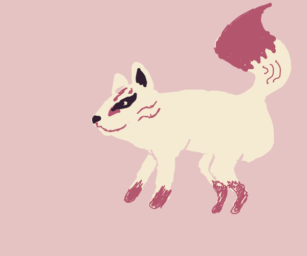 Classic Japanese folklore style animal