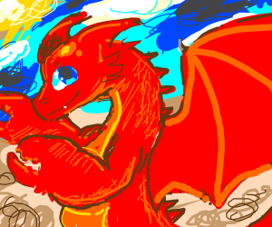 A dragon with lobster claws
