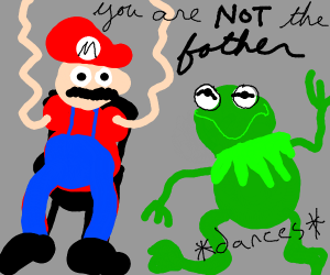 Kermit the frog is not mario's father