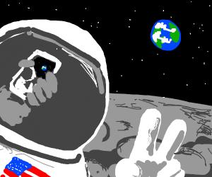 Selfie on the moon!