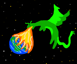 dragon kills an entire civlization