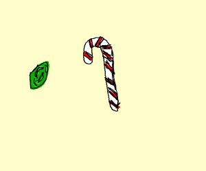 time stone and candy cane
