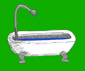 Bathtub with showerhead