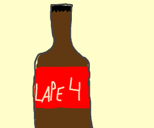 A beer bottle that says Lape4