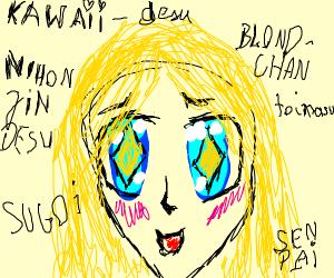 Blonde anime lady