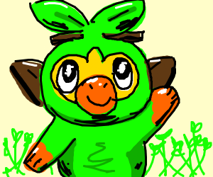 Grookey with sprouts