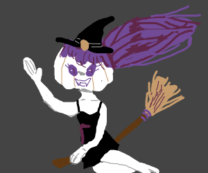evil witch pumpkin
