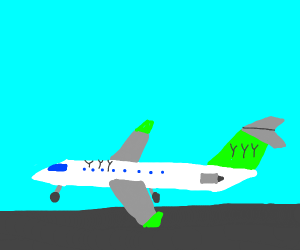 A plane from the company YYY