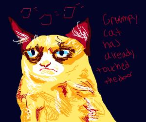 grumpy cat starts explosion