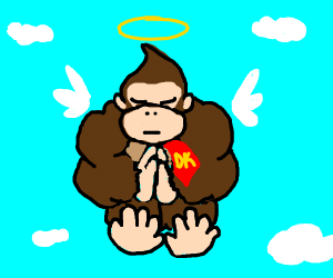 Donkey Kong reaches the afterlife