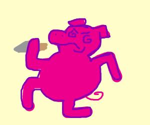 Psychopathic pig