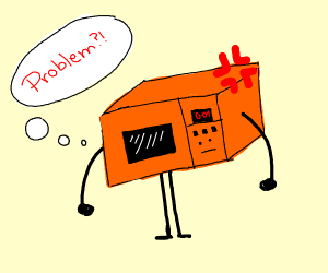 orange microwave robot