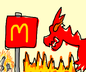 dragons at mcdonalds