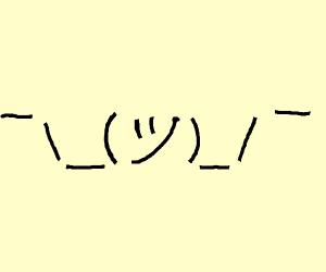 Shrug emoticon