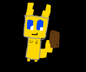 square/minecraft pikachu