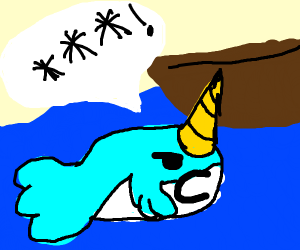 narwhal swears at a boat