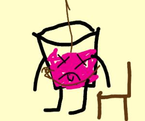 Minoru/Grape Juice hangs himself