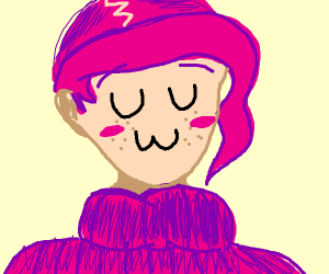 Doppio doing a uwu