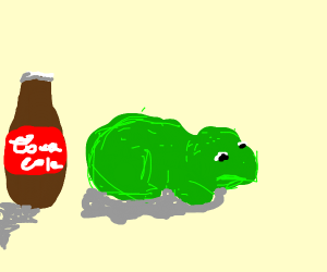 Frog doesn't want coke