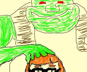 Inkling girl VS Shrek