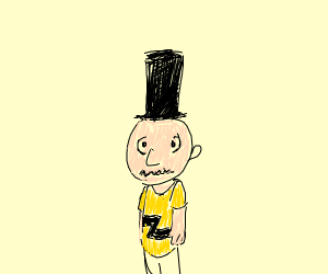 charlie brown has an Abraham Lincoln hat