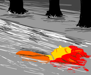 Sideshow Bob floats down the river
